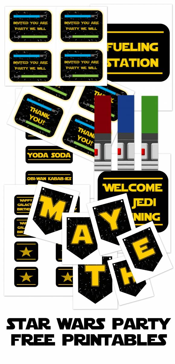 Star Wars Party Printables And Epic Ideas All Things With