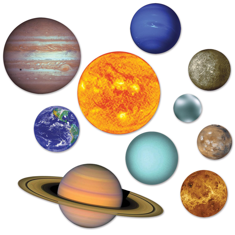 12 Units Of Solar System Cutouts Prtd 2 Sides