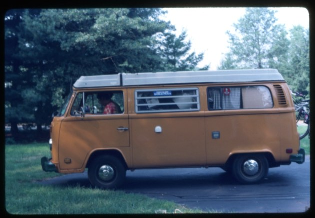 My 1977 Volkswagen camper. A great vehicle for road trips but not the best choice for our family with 2 young kids.