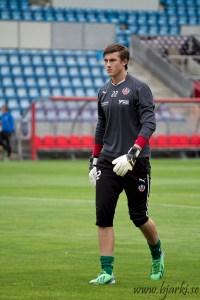 Andreas Linde under uppvärmning.