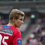 Emil Krafth från start mot Island
