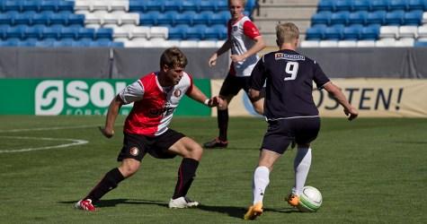 Måns Herrmann när man mötte Feyenoord i en träningsmatch i somras. Foto Bjarki Tordarson