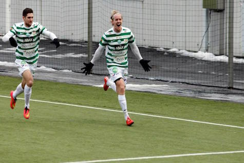 Simon Johansson målskytt mot Halmstad senast (1-1 målet)  Foto: Tobias Barkskog