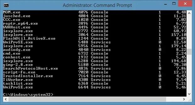 Get List of current running Tasks