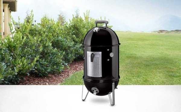 Weber Smokey Mountain Cooker 22-Inch Charcoal Smoker, Model 731001 Black