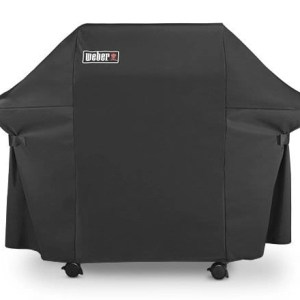 2015 Weber Grill Cover with Storage Bag Black Product Straight On