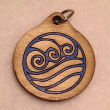 Anime Avatar Water Wood Necklace