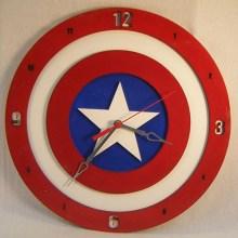 Captain America Shield 14 inch Clock