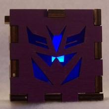 Decepticon LED Gift Box blue