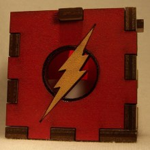 The Flash LED Gift Box red