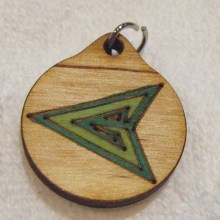 Green Arrow Wood Necklace