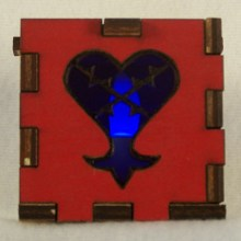 Heartless LED Gift Box blue