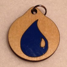 Magic the Gathering Blue Wood Necklace