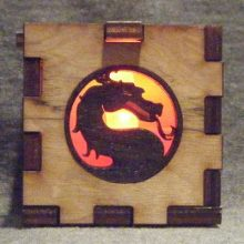 Mortal Kombat LED Gift Box red