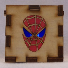 Spiderman LED Gift Box blue