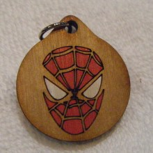 Spiderman Wood Necklace