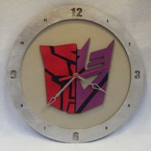 Autocon Transformers beige background, 14 inch Build-A-Clock