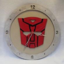 Autobot Beige Background Clock