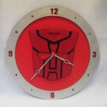 Autobot Red Background Clock