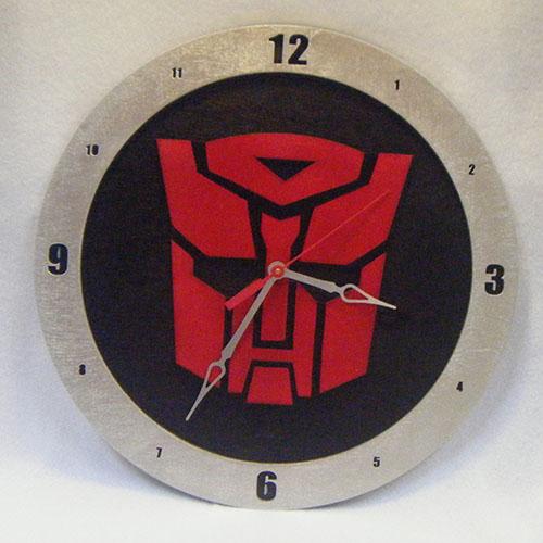 Autobot Black Background Clock
