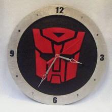 "14"" Wood Autobot Symbol Black Background Build-A-Clock"