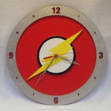 The Flash red background, 14 inch Build-A-Clock