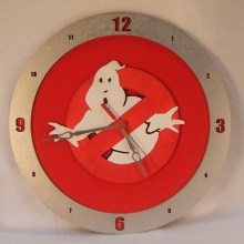 Ghostbusters red background, 14 inch Build-A-Clock