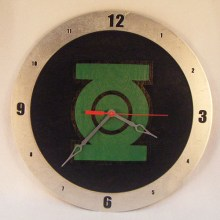 Green Lantern black background, 14 inch Build-A-Clock