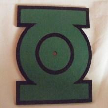 Green Lantern Symbol Art Insert for Build-A-Clocks