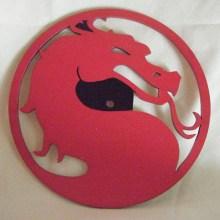 Mortal Kombat Symbol Art Insert for Build-A-Clocks