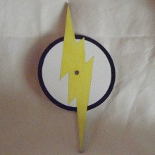The Flash Symbol Art Insert for Build-A-Clocks