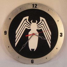 Venom black background, 14 inch Build-A-Clock
