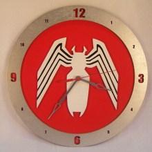 Venom red background, 14 inch Build-A-Clock