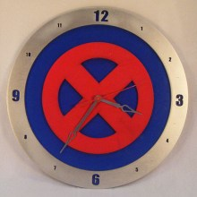 X-Men blue background, 14 inch Build-A-Clock