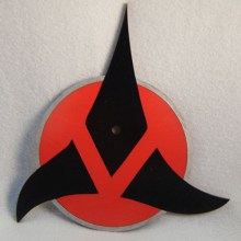 Klingon Symbol Art Insert for Build-A-Clocks