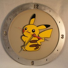 Pikachu Pokemon beige background, 14 inch Build-A-Clock