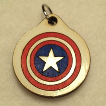 Captain America Wood Necklace