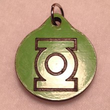 Green Lantern Wood Necklace