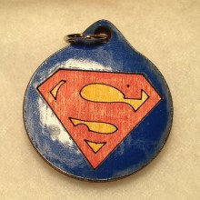 Superman Wood Necklace
