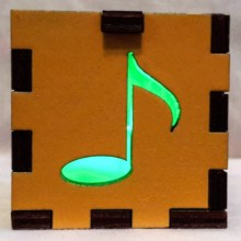 yellow music note green lit