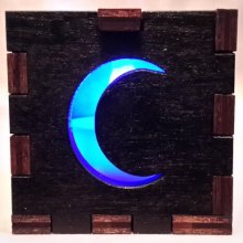 Moon LED Gift Box blue