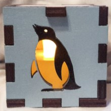 blue penguin lit yellow