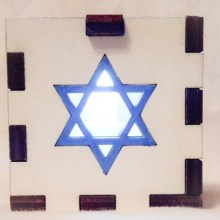 Star of David White lit white