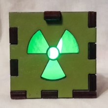 Radioactive LED Gift Box green