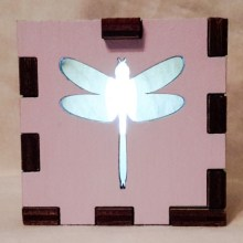 Dragonfly LED Gift Box white