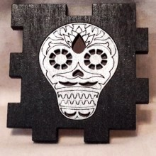 Sugar Skull black LED Gift Box