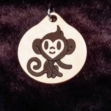 Monkey Boy Wood Necklace