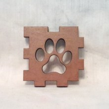 Paw Print Brown