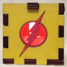 Reverse Flash LED Gift Box red