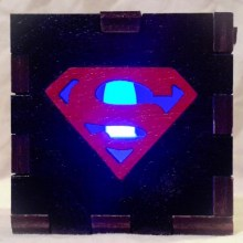 superboy LED Gift Box blue
